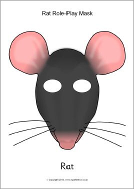 Grey Rat Felt Face Mask Cute Rat Dress Up Mask School Pretend Play Mask Halloween Birthday Party Costume Mask Rat Mask
