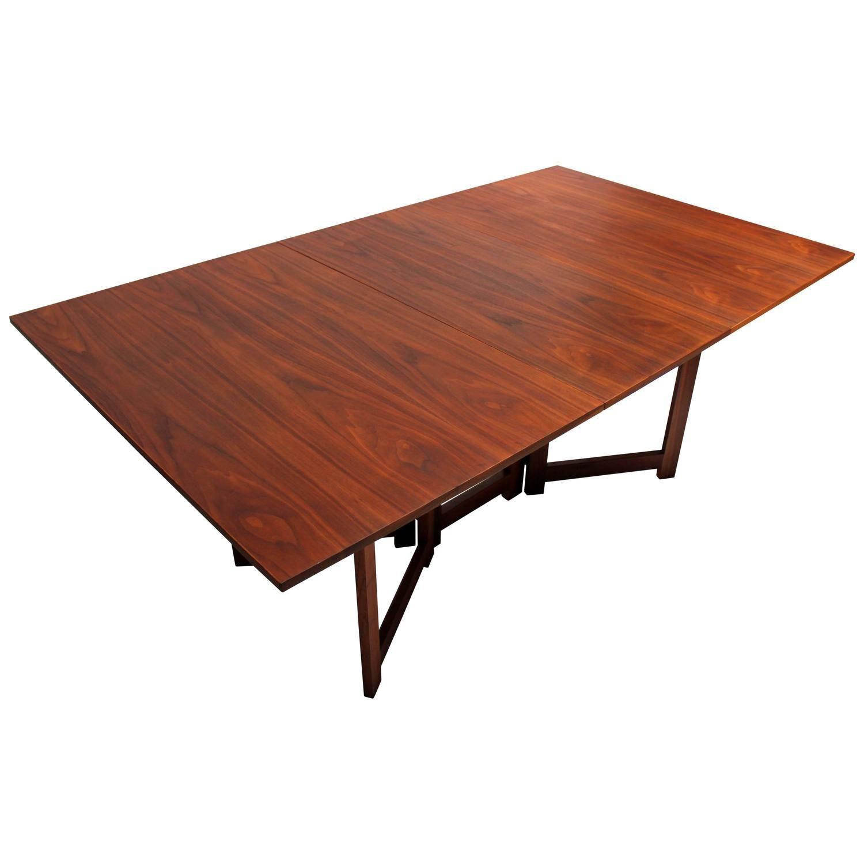 Walnut Mid Century Dining Bench