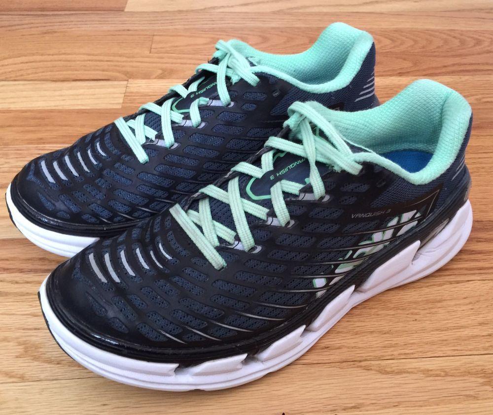 56da3d8f4ad8 Hoka One One Womens 8.5 M Vanquish 3 Running Shoes Midnight Navy Spring Bud