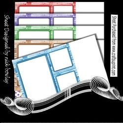 5 Lovely coloured wood effect window frames card fronts 8×8 mini kit