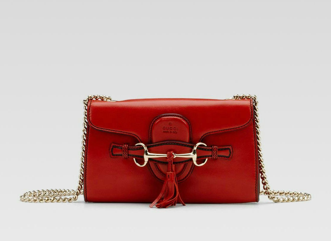 Gucci Red Emily Medium Shoulder Bag | Zatchels: Satchels ...