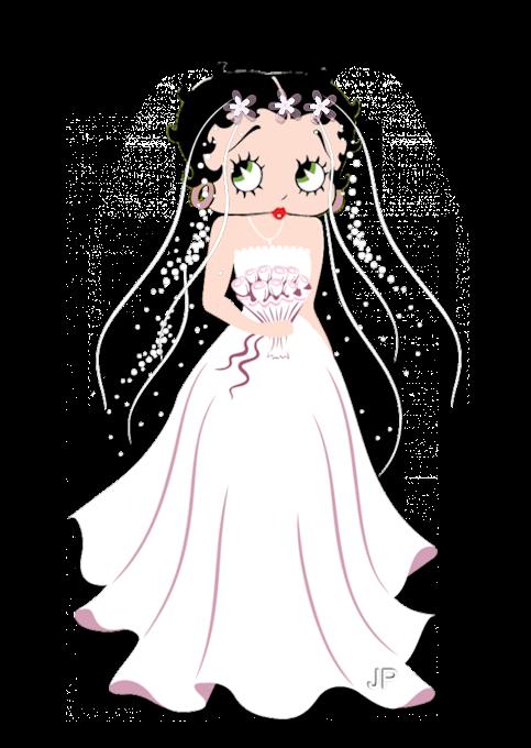 betty con su vestido de novia | betty boop