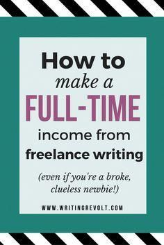 Want to make money freelance writing – SERIOUS, full-time money? Read this, an...