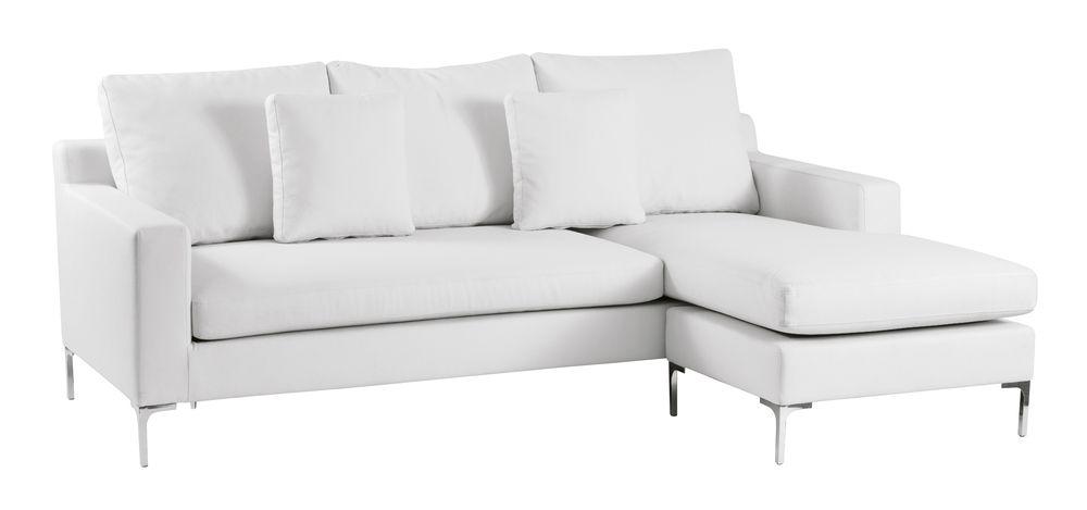 Dwell Oslo Reversible Corner Sofa White White Leather Sofas Sofa Corner Sofa