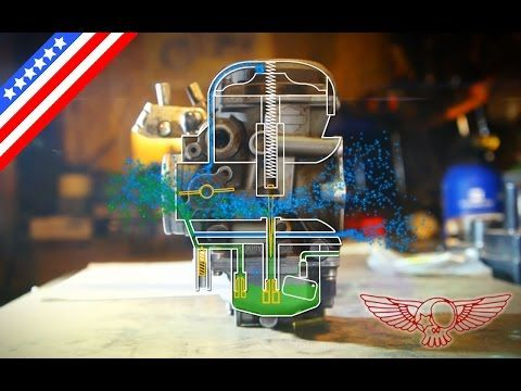 How does the CV carburetor work and adjustment screw - ep 26