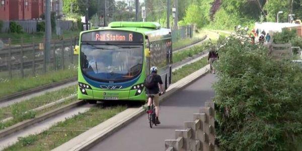 Linea Bus al posto del treno....riuso di una linea abbandonata a Cambridge
