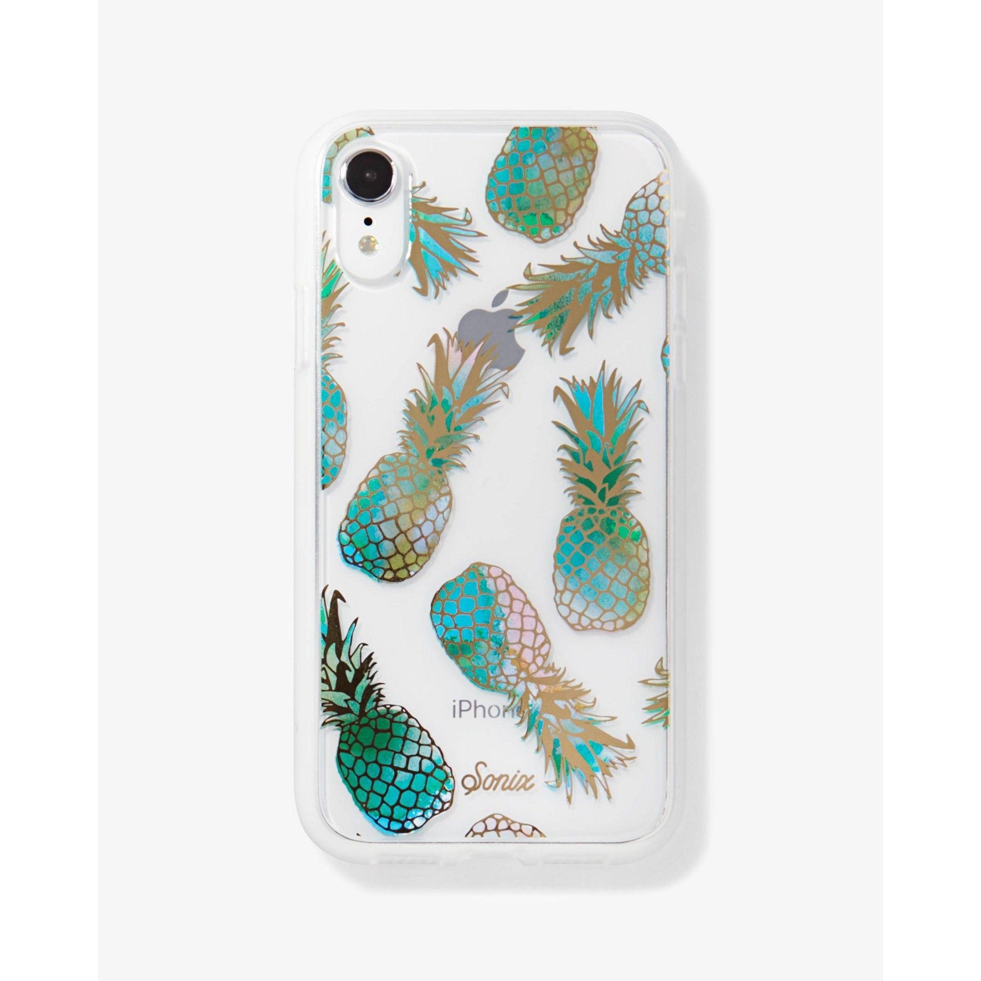 Sonix Apple Iphone Xr Clear Coat Case Liana Teal Pineapple