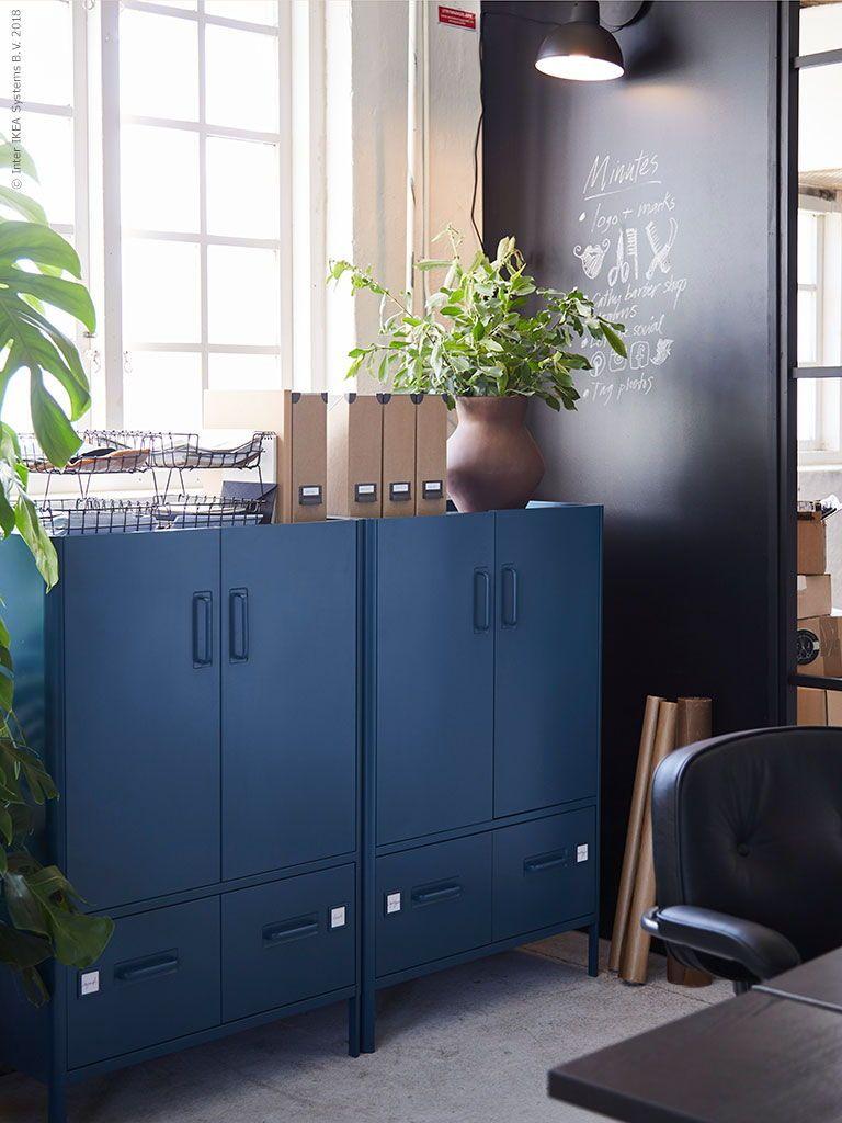 Idåsen Kast Met Deuren En Lades Blauw Woonkamers In 2019