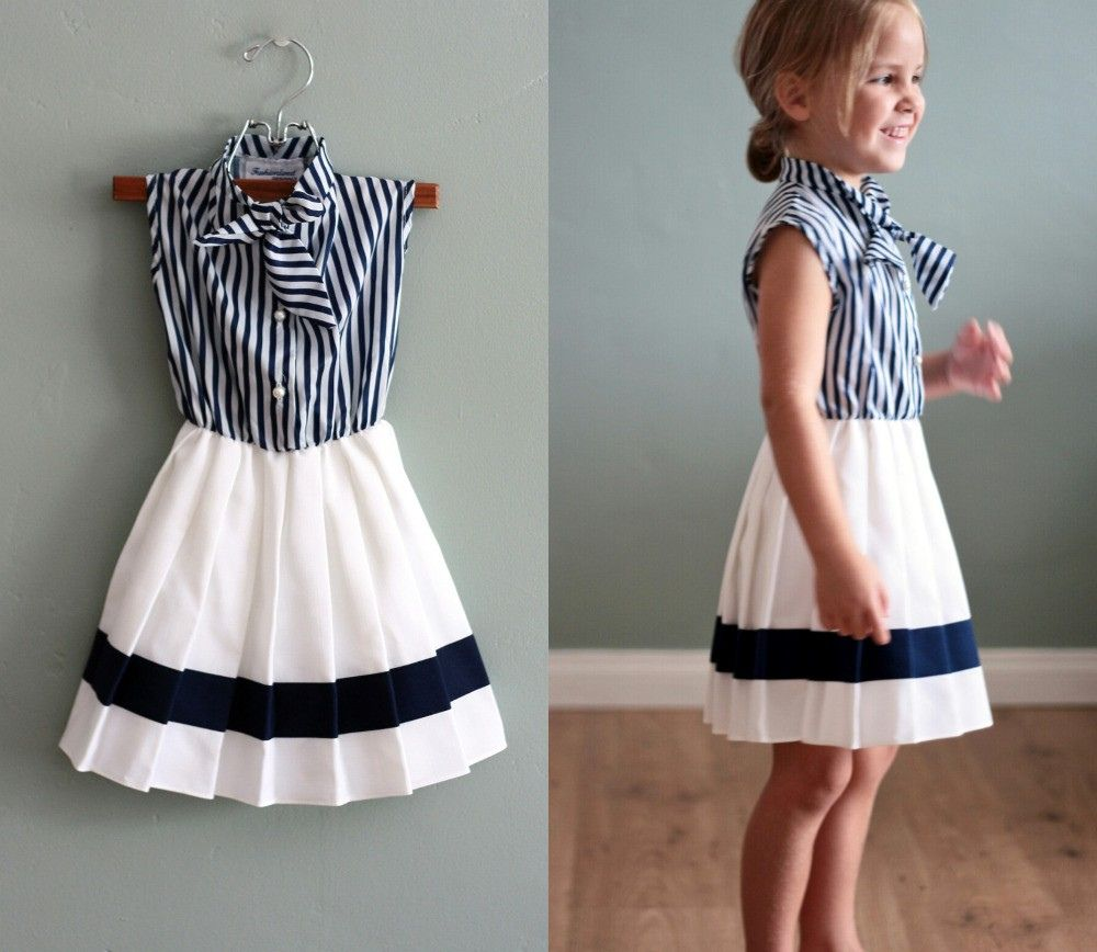 Vintage childrens pleated secretary dress vintage kids girls super cute nautical dress looks totally diy able yes once again i want a dress for a little girl to wear for myself ombrellifo Images