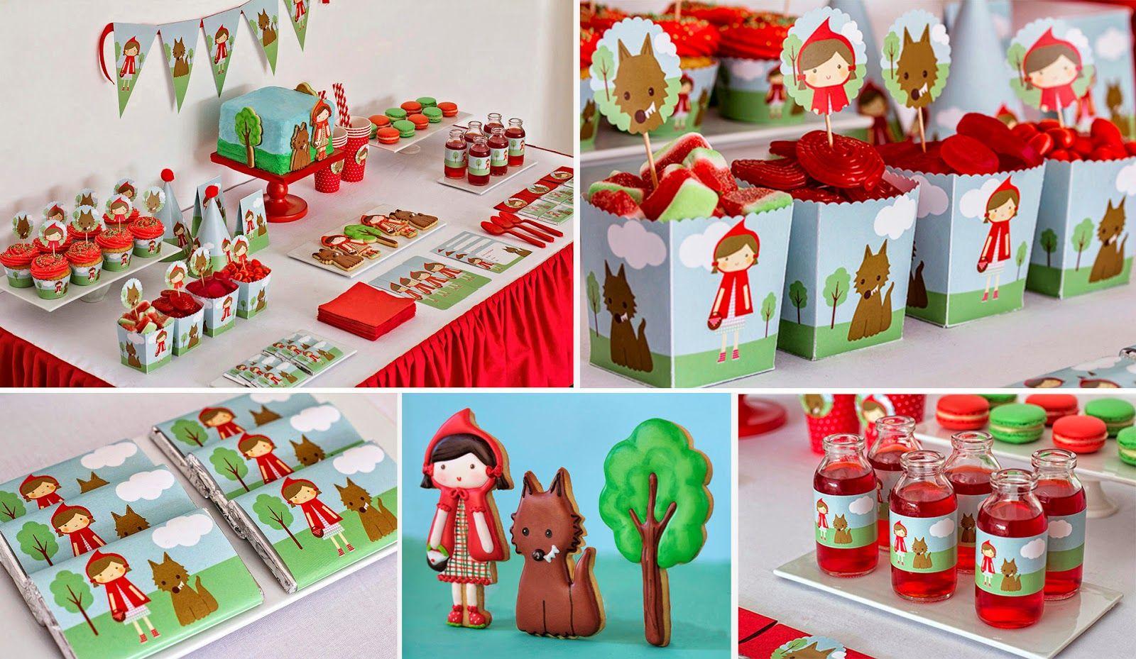 fiesta cumpleaos fiestas temticas caperucita roja fiestas infantiles galletas decoradas dulce vida tartas fondant ideas originales mesas dulces