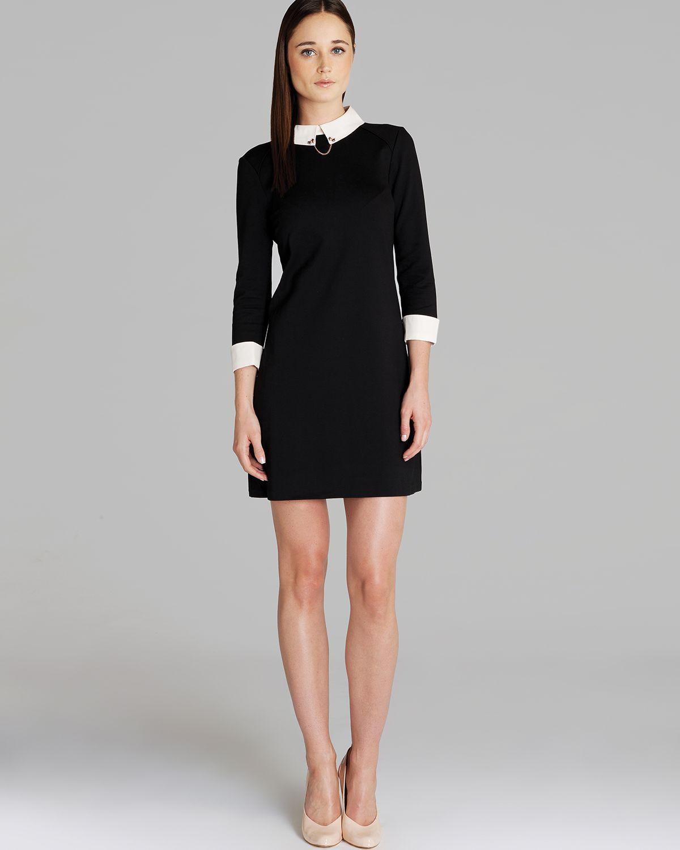 b61d6a2e37280e ted-baker-black-dress-wubty-contrast-collar- dress