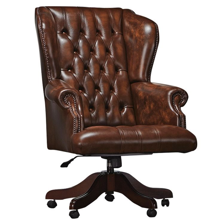 Chesterfield Office Chairs, handmade in the UK using high grade leather and  available with free UK delivery from Chesterfields of England.