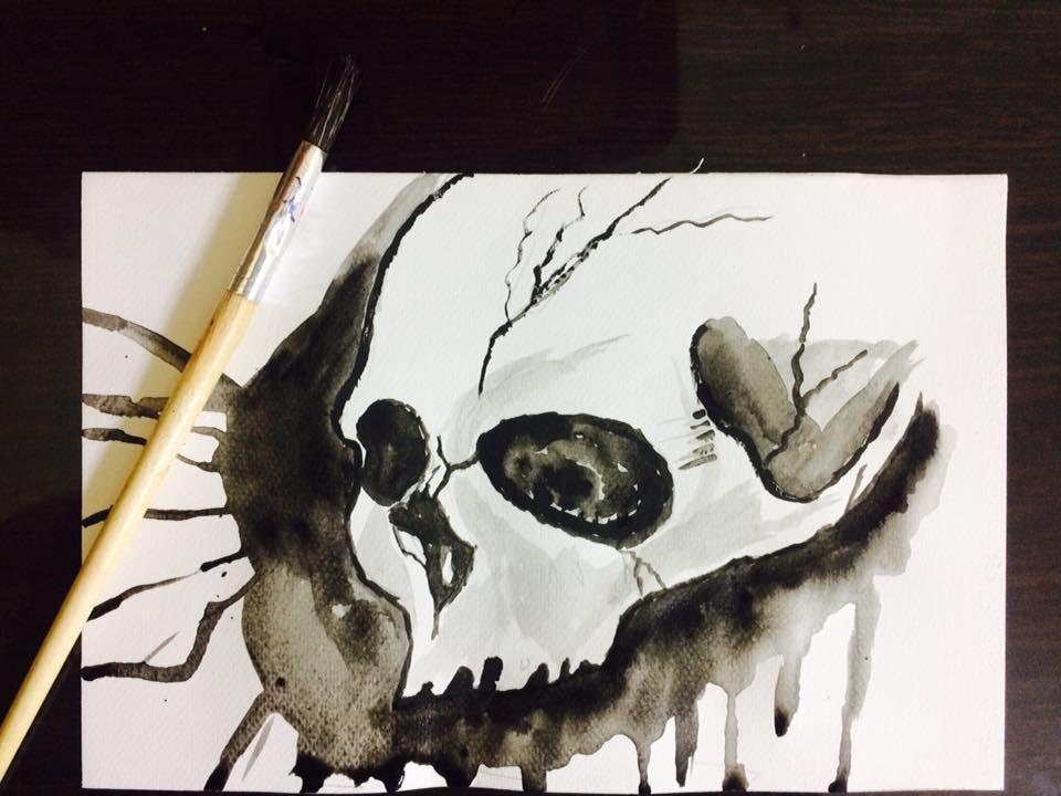 drop dead watercolor 21 x 30 cm