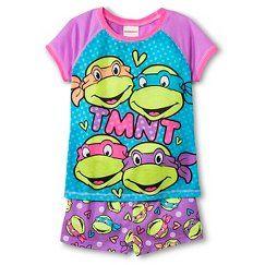 Teenage Mutant Ninja Turtles Official Gift Boys Kids Loungewear Short Pyjamas