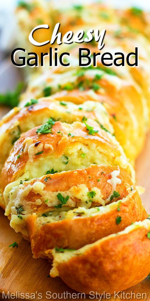Cheesy Garlic Bread - melissassouthernstylekitchen.com
