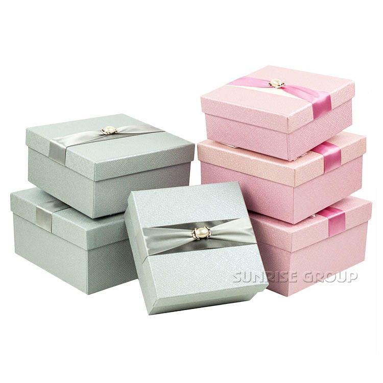 Beautiful Pink Personalized Bridal Jewelry Box with Ribbon alibaba