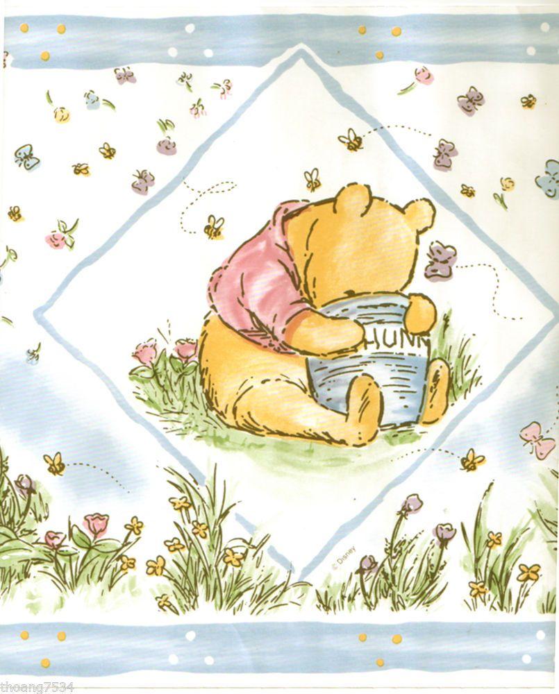 DISNEY Classic Winnie The Pooh Bear Baby Blue Cream