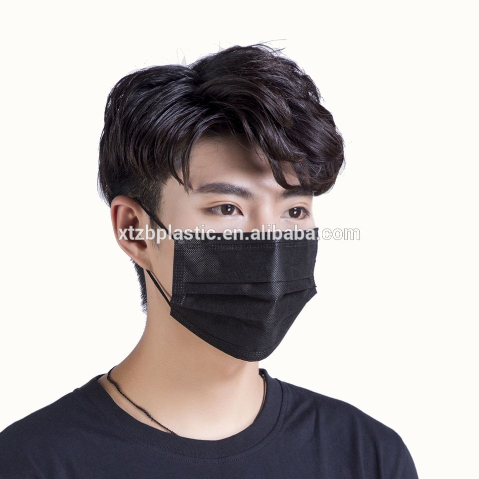 Nonwoven Black Mask Doctor Ply 3 Disposable Color Face Hospital