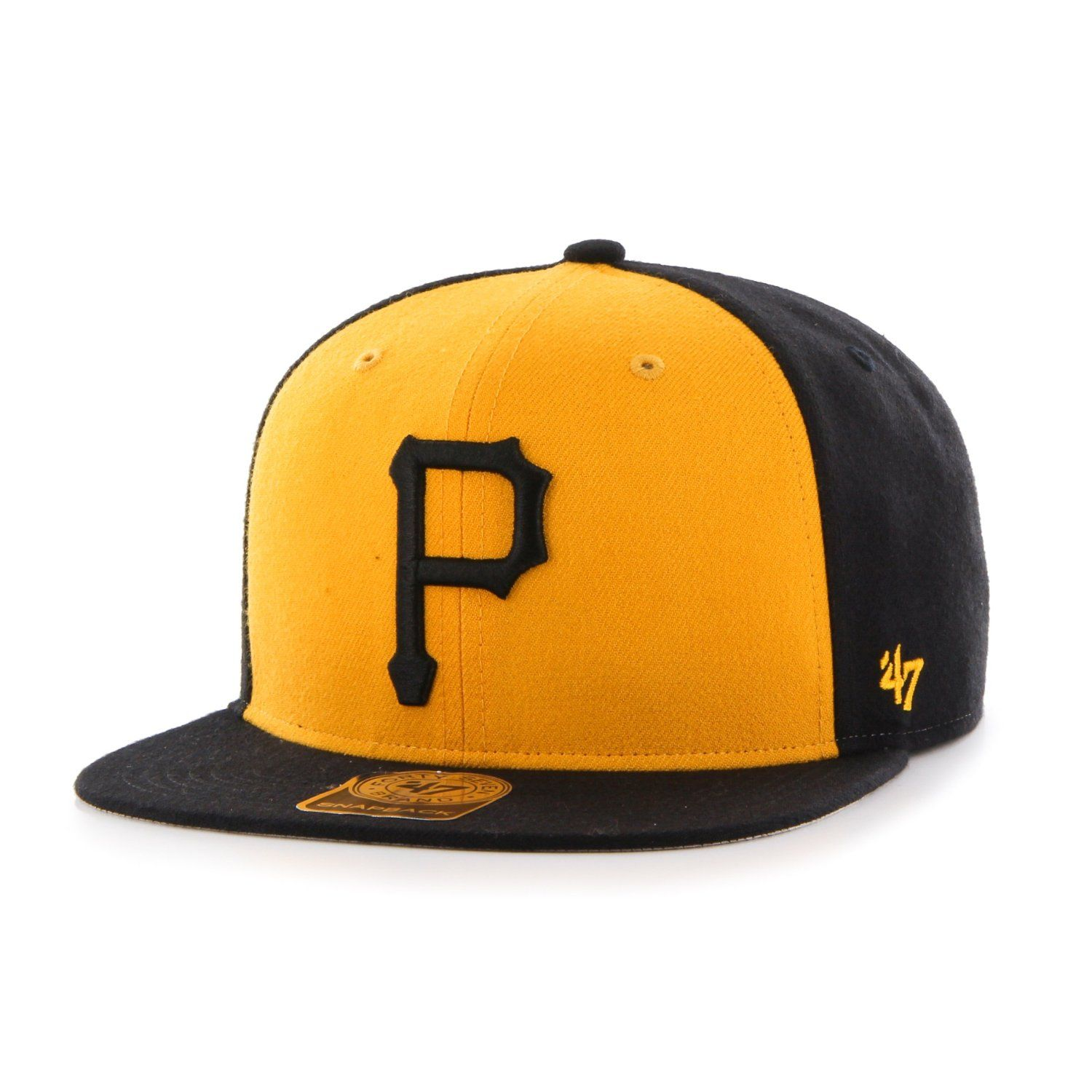 Amazon.com   MLB Pittsburgh Pirates Sure Shot Accent  47 Captain Adjustable  Snapback Hat 2ab45fecf46