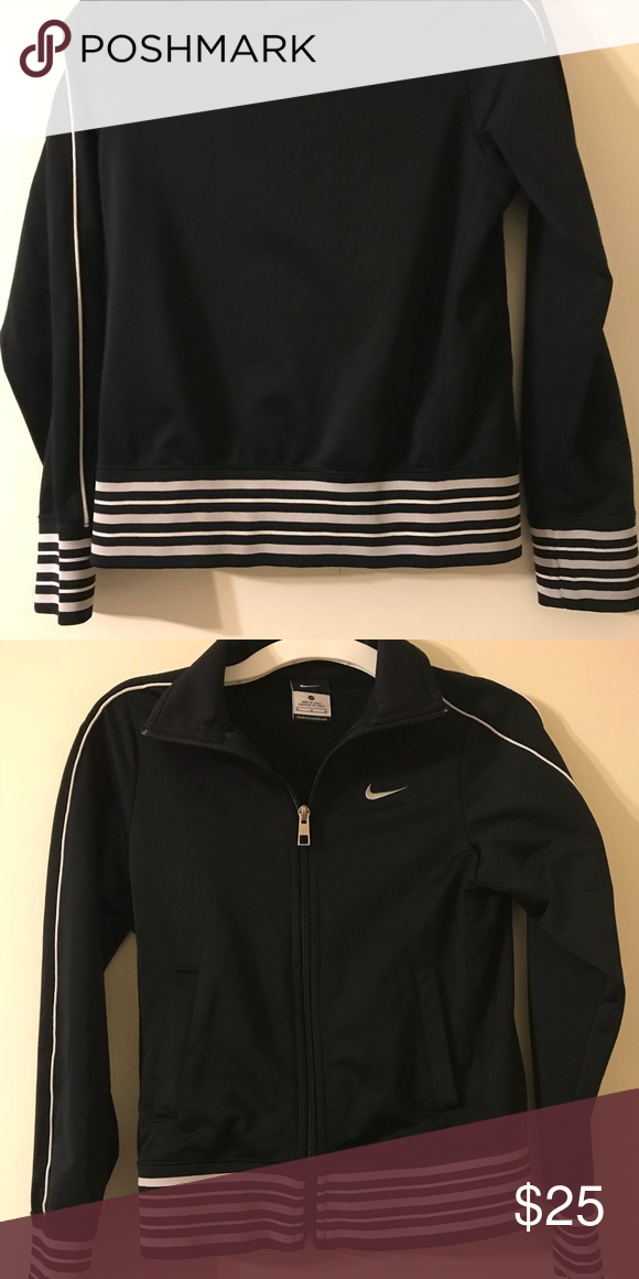 922bb995d96a Track Jacket Black and white Nike track Jacket. No stains or snags like new.  Nike Jackets   Coats