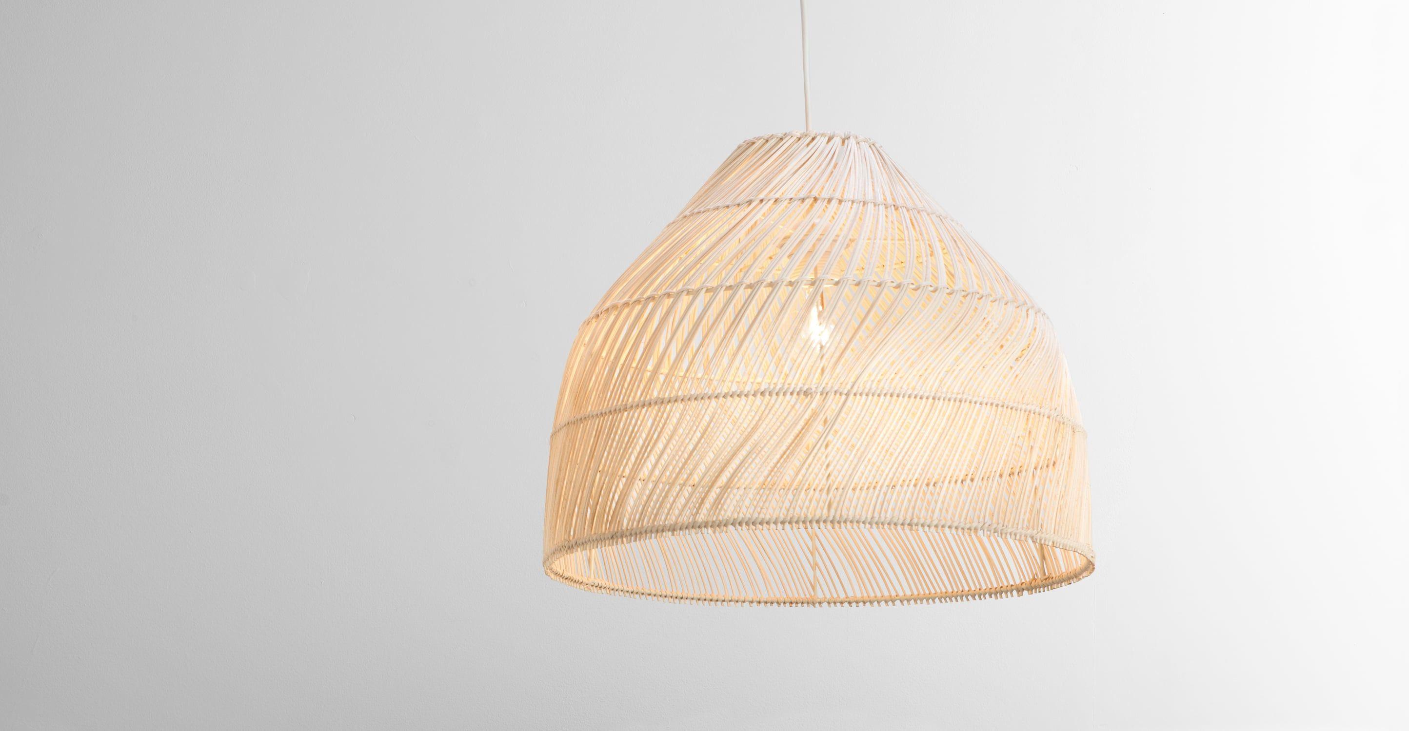 Bamboe Lampenkap Xl : Kleine java lampenkap natuurlijk rotan in babykamer