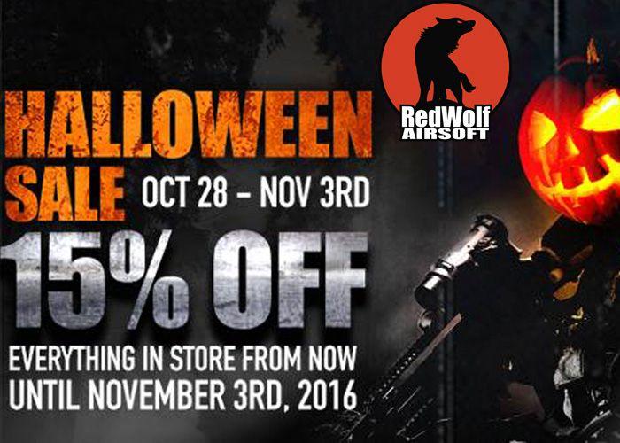 RedWolf Airsoft Halloween Sale 2016