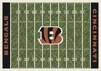 Cincinnati Bengals Nfl Football Home Field Logo Area Rug Bengals Nfl Teams Cincinnati