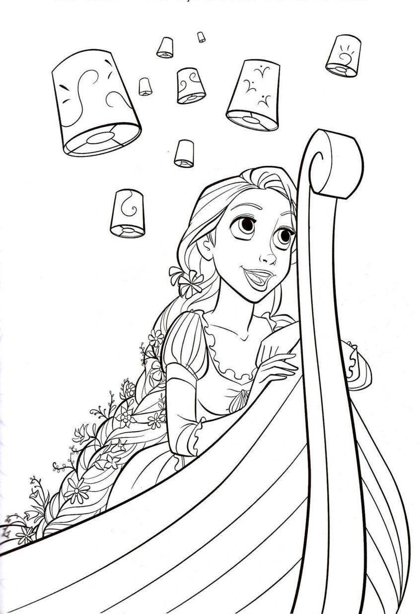 880 Colouring Book Rapunzel Picture Hd Dengan Gambar Halaman