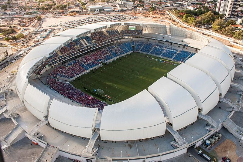 Brazil S 900 Million World Cup Stadium Is Now Being Used As A Parking Lot World Cup Stadiums Stadium Design Stadium Architecture