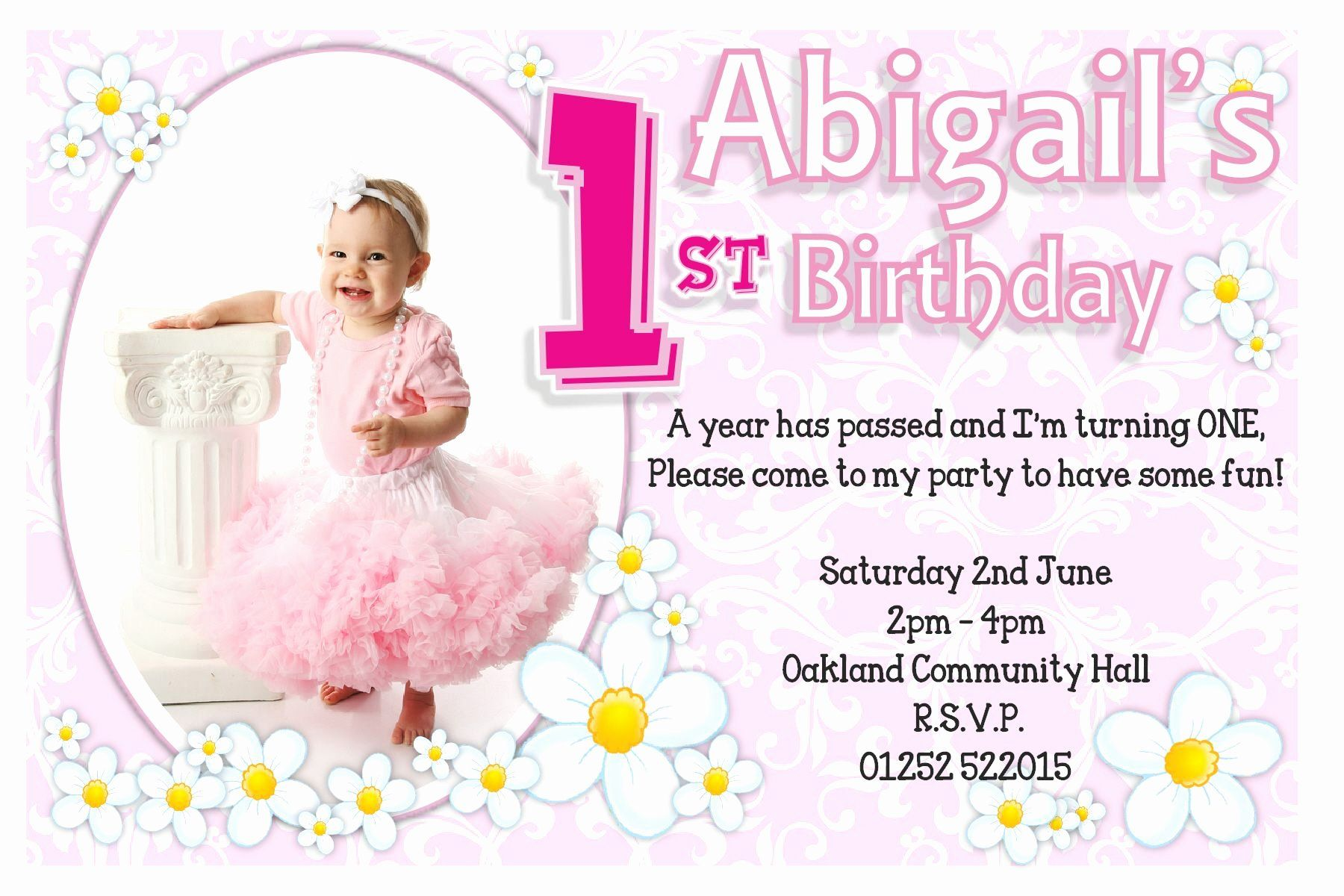 First Birthday Invitation Template Free Elegant 1st Birthday Invitations Birthday Invitation Card Template 1st Birthday Invitations Photo Birthday Invitations