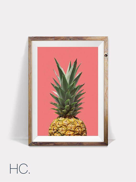 Pineapple Print Decor, Printable Pineapple, Pineapple Large Poster ...