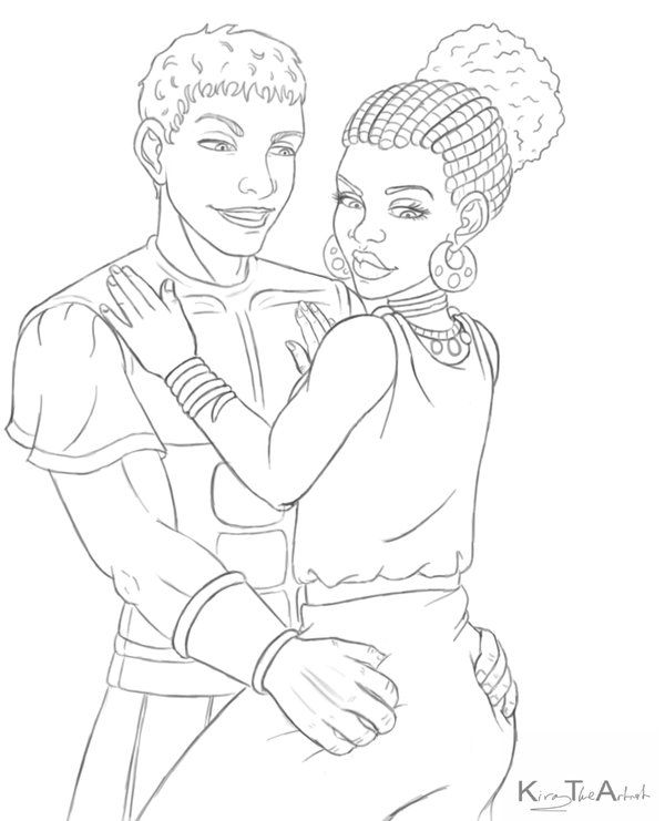 Caesar And Cleopatra Commission Drawing Images Coloring Pictures Coloring Pages
