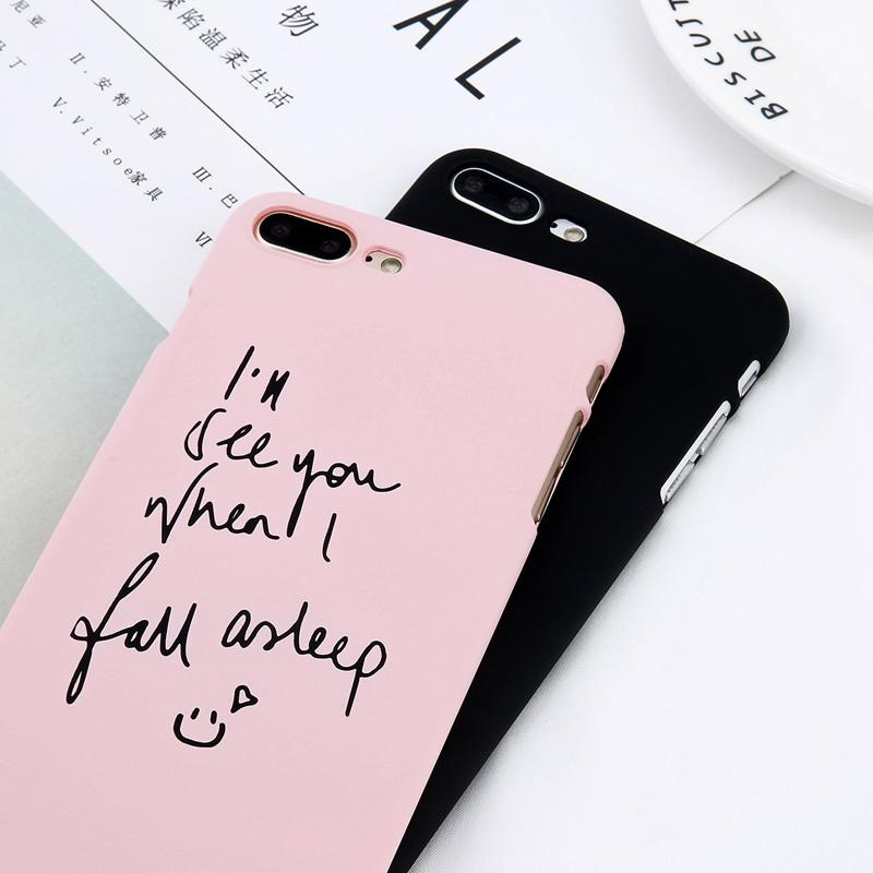 uk availability 824fd d2cdd Simple letter print matte hard pc cartoon couple cases, 2019 | Apple ...
