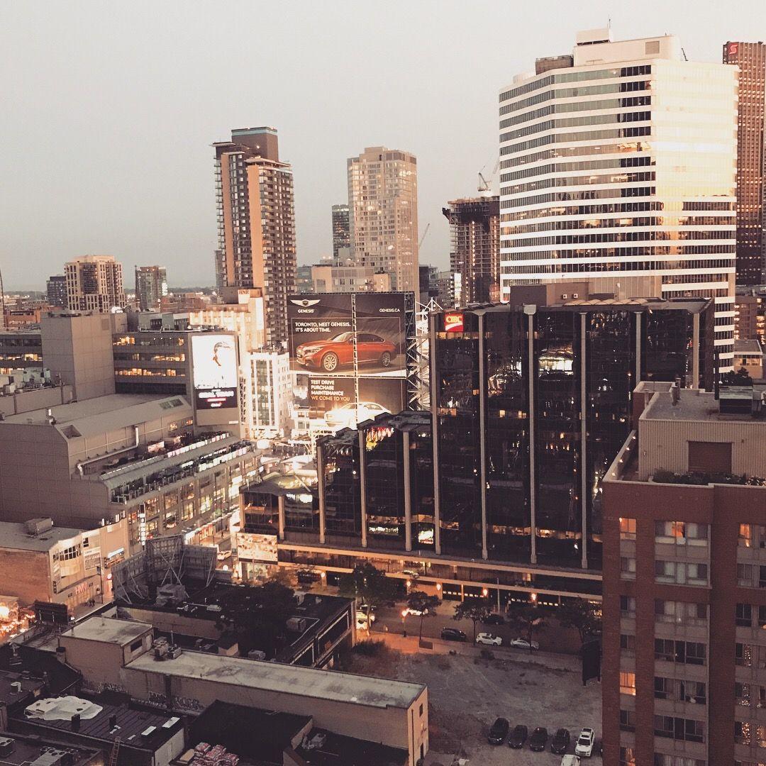Hotel Balcony View Of The City Toronto At Sunset By Jodie M Hamilton In 2020 Toronto Skyline Skyline San Francisco Skyline