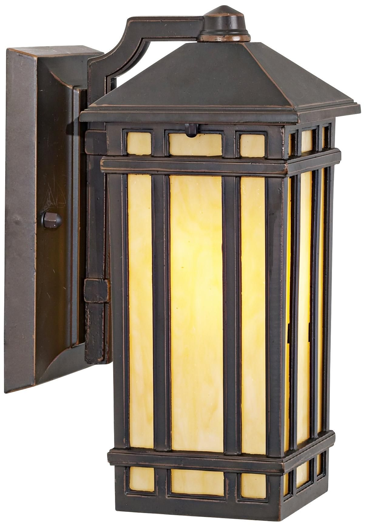 """J du J Mission Hills 10 1/2"""" High Outdoor Wall Light (With"""