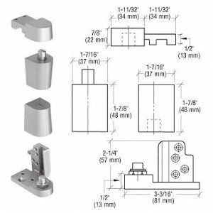Crl Aluminum Offset Left Hand 0p70 Series Kawneer Type Pivot Set By Cr Laurence By Cr Laurence 28 00 For Flush And 1 Home Doors Home Hardware Door Hardware