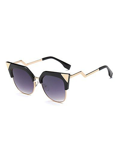 5164e03a489 Outdoor Triangle Zigzag Leg Cat Eye Sunglasses  men