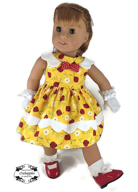 Pattern now available! https://www.etsy.com/listing/288312313/pixie-faire-crabapples-sunday-best-doll?ref=shop_home_active_9  This dress is