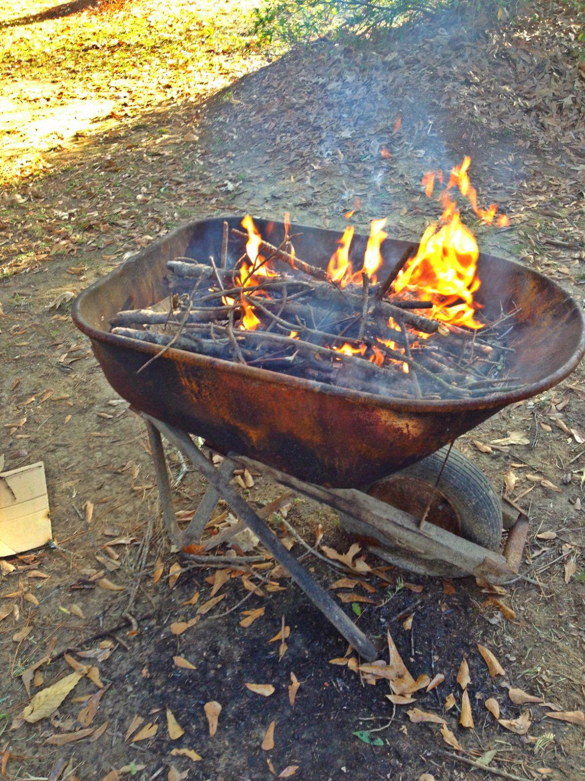 Wheelbarrow Fire Pit Fire Pit Outdoor Fire Pit Outdoor Fire
