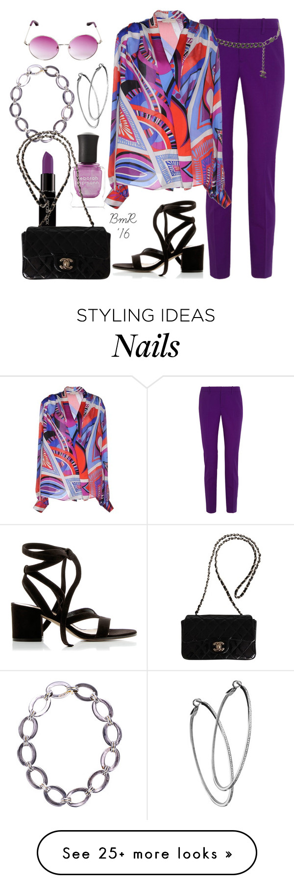 """""""Wrapped With Love"""" by barbmama on Polyvore featuring Chanel, Gucci, Emilio Pucci, Gianvito Rossi, Deborah Lippmann, Smashbox, Linda Farrow and Mystic Light"""