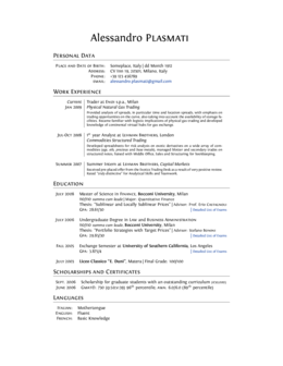 Latex Resume Templates  Latex    Latex Resume Template