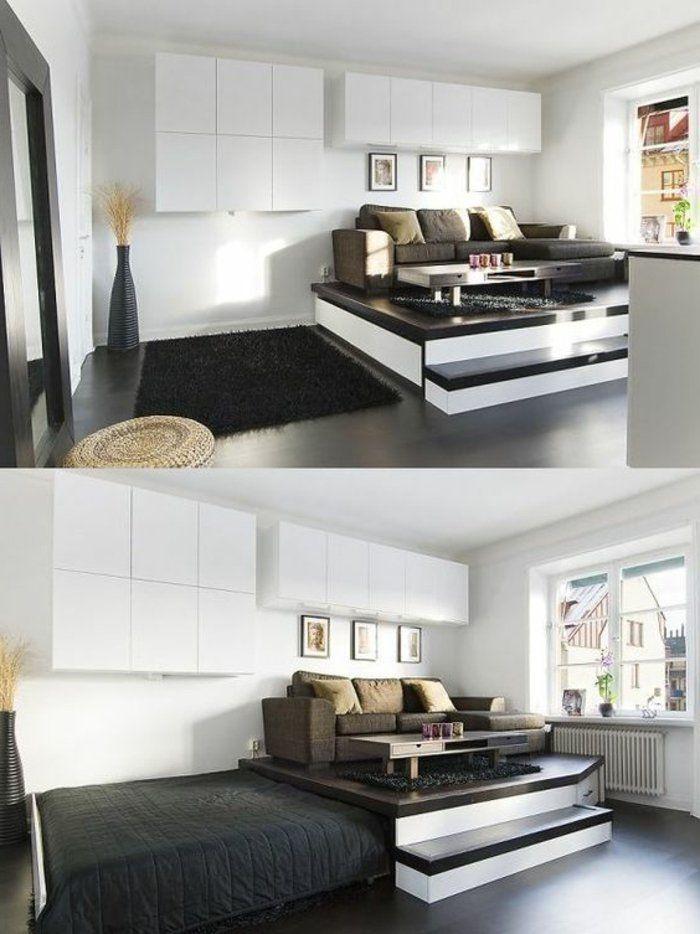kleines wohnzimmer einrichten eine gro e herausforderung living pinterest. Black Bedroom Furniture Sets. Home Design Ideas