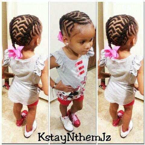 Chevron Cornrows Natural Kids Hair Style Girls Hairstyles