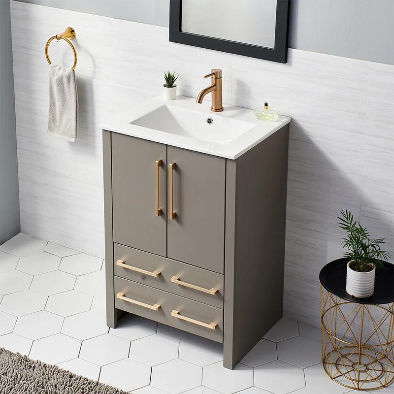 Ebern Designs Seattle 24 Single Bathroom Vanity Set Reviews Wayfair Bathroom Vanity Vanity Single Bathroom Vanity