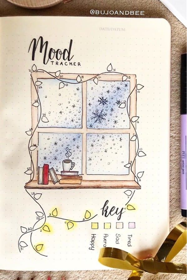 25+ Best December Mood Tracker Ideas For Bujo Addicts - Crazy Laura