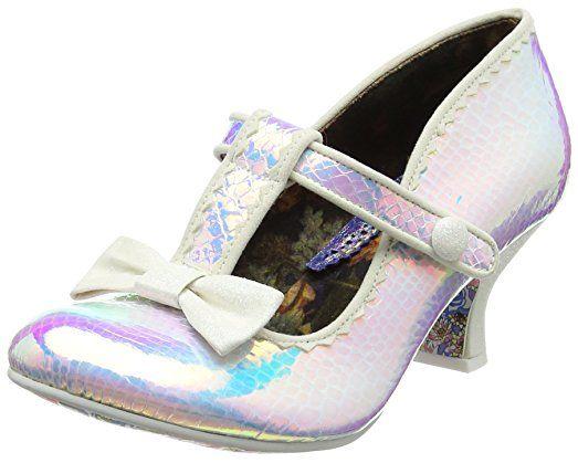 Doddle Dots Zapatos de Tacón Mujer, Red (Bordo), 37 EU (4 UK) Irregular Choice