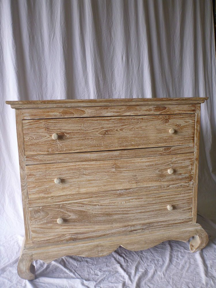 Balinese Furniture Hand Carved Teak Tall Boy Chest Of