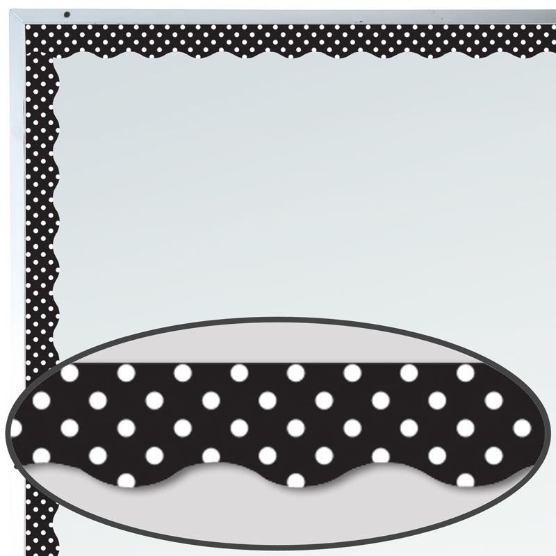 Black Polka Dots Magnetic Border Trim Polka Dot Classroom Bulletin Board Borders Science Bulletin Boards
