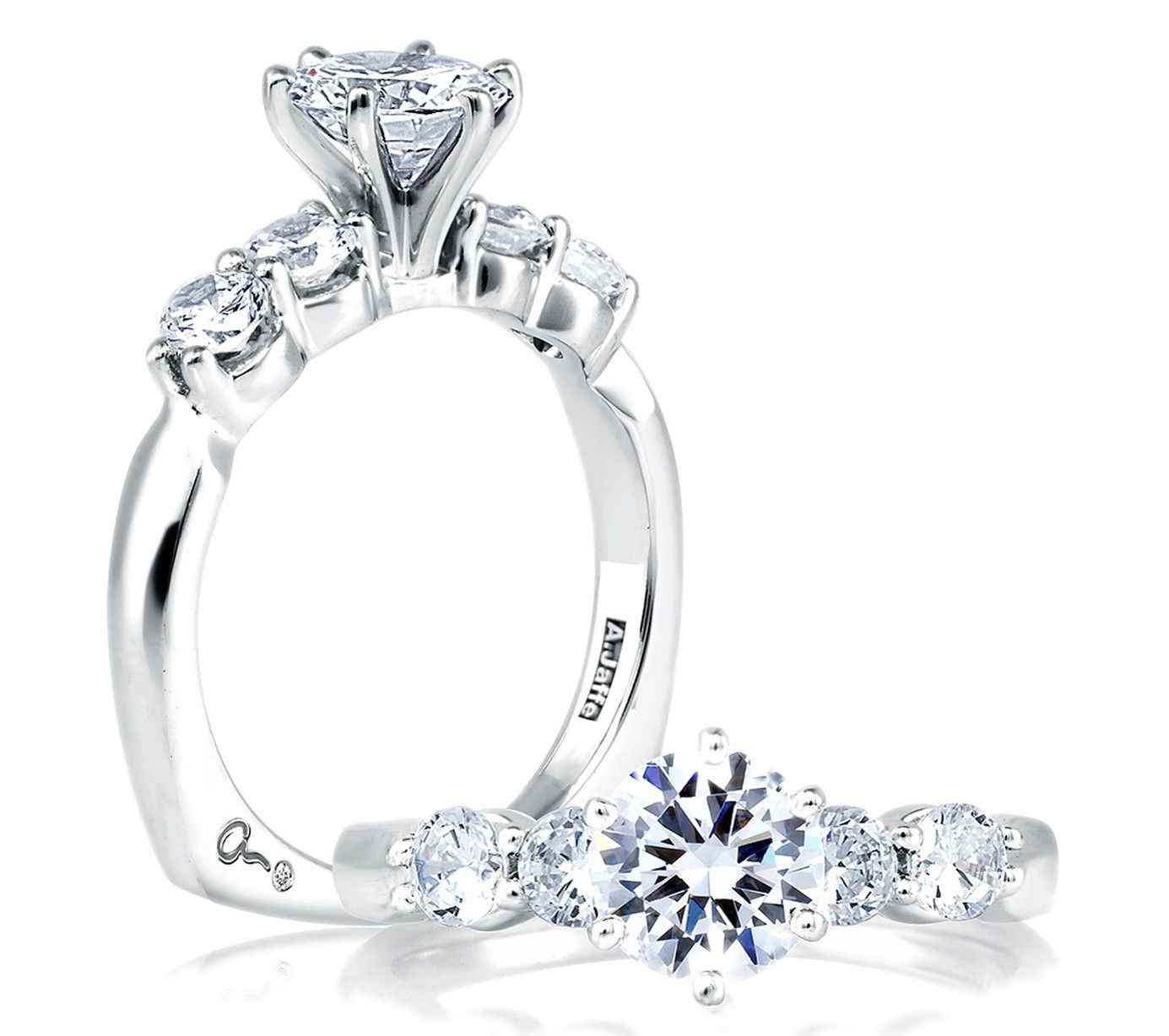 diamond eternity cut brilliant stone platinum rings from ring bridal image engagement