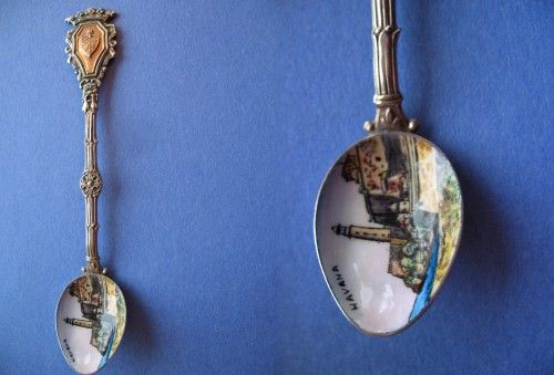 Vintage State of TEXAS Collectible Spoon-Texas Welcome Sign-Stamped Italy